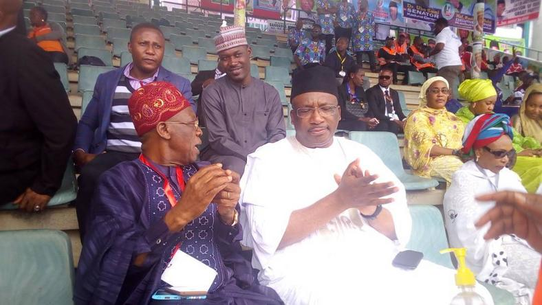 Minister of Information and Culture, Lai Mohammed (L) and Minister of Interior Abdulrahman Dambazau (R)