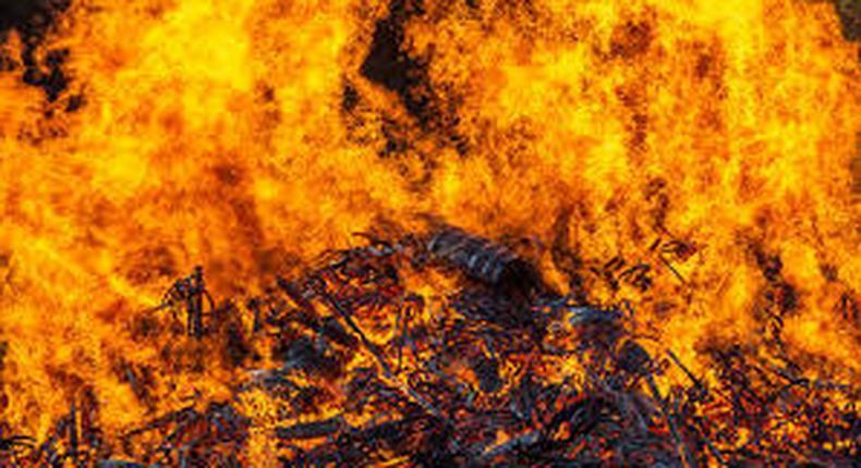 Jim Beam warehouse fire destroys 45,000 barrels
