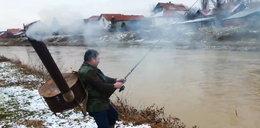 Pomysłwoy wędkarz już nie marźnie na rybach!