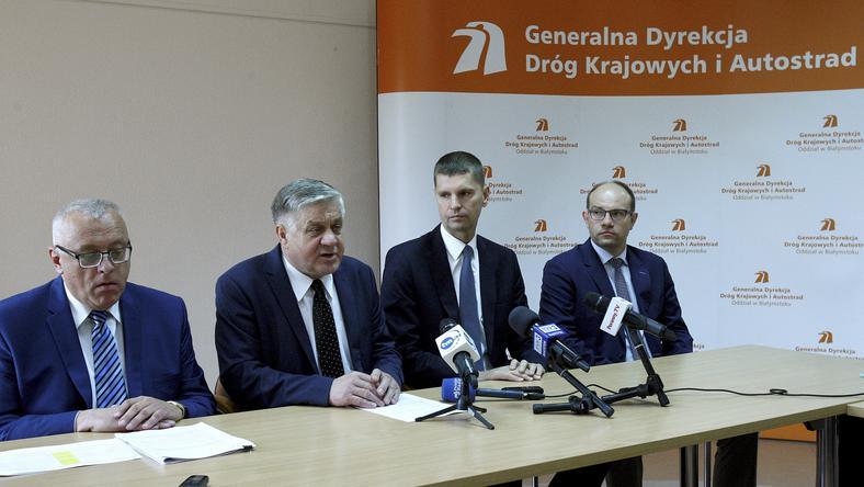 Konferencja prasowa Krzysztofa Jurgiela w Białymstoku