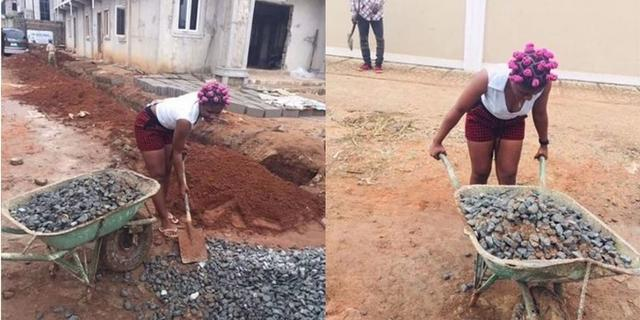 Man takes female friend to construction site & used her as labourer after she asked for money | Pulse Nigeria