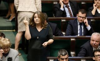 Komisja etyki udzieliła nagany Joannie Lichockiej za pokazany środkowy palec
