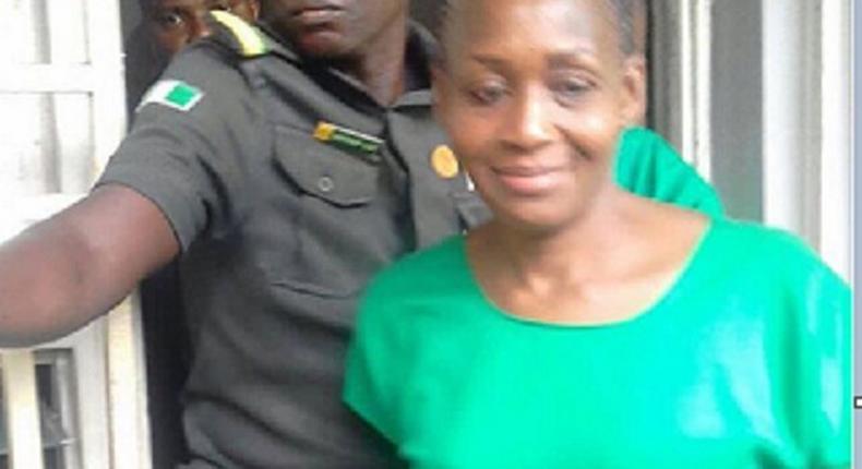 Kemi Olunloyo, seen in a prison uniform. was released on Monday, January 22, 2018.