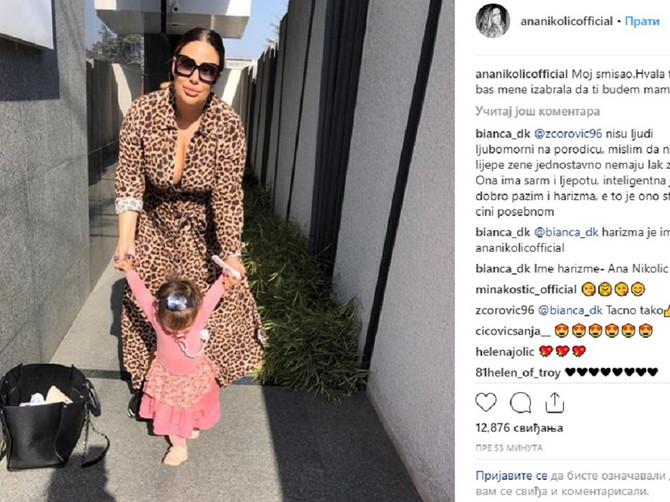 Ana objavila sliku sa ćerkicom: Mama je pažljivo birala stajling za Taru, a rečima poslala VAŽNU PORUKU