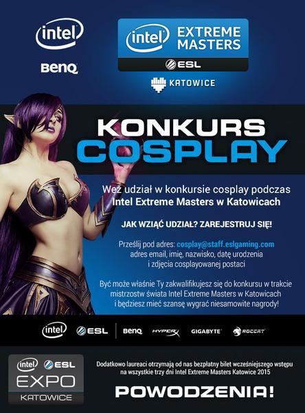 Intel Extreme Masters 2015 - konkurs cosplayowy