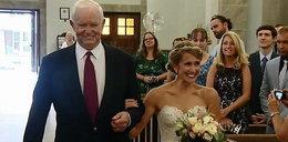 Do ołtarza poprowadził ją mężczyzna z sercem jej taty