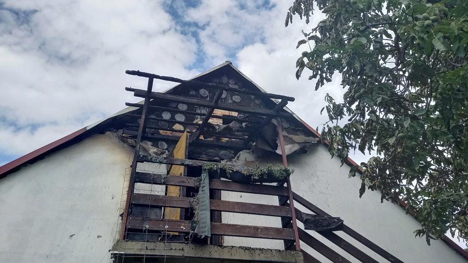 Pożar w Łazie wybuchł kilkanaście minut po godzinie 12