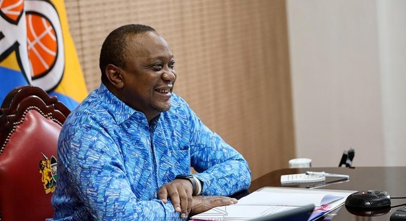 President Uhuru Kenyatta during a recent virtual meeting at Sate House Nairobi