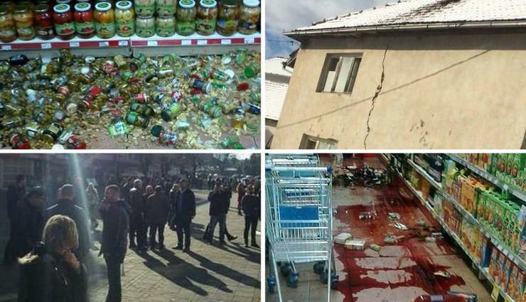 zemljotres crna gora kombo foto RAS Srbija Facebook Podgoricki vremeplov
