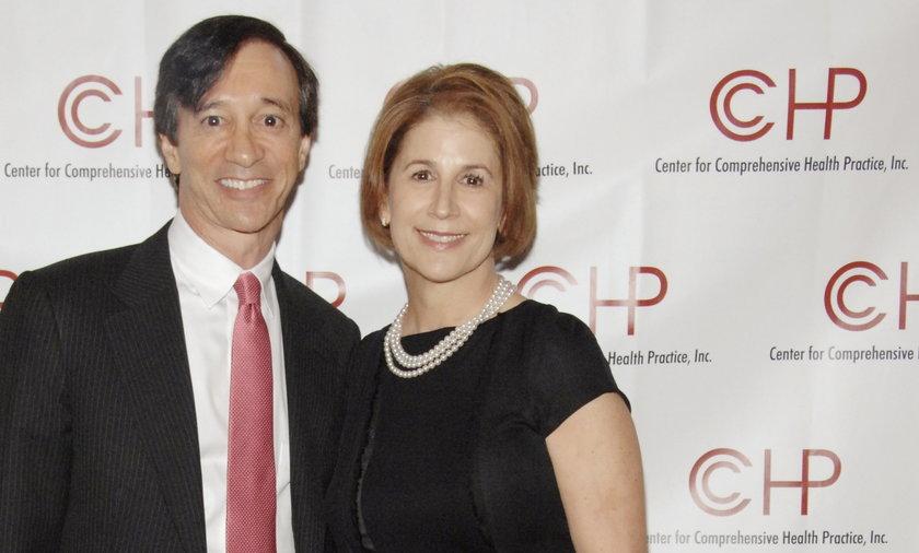 Howard Rubin z żoną, która postanowiła się z nim rozwieść.