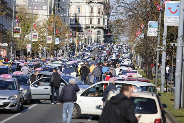 protest taksisti 6. dan