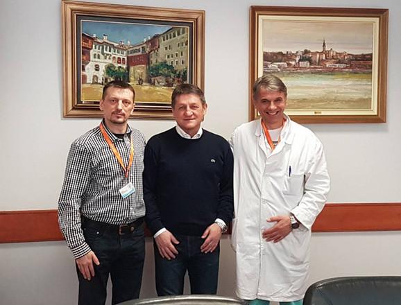 Prof. dr Zoran Radovanović, prof. dr Zoran Krivokapić i prof. dr Goran Stanojević