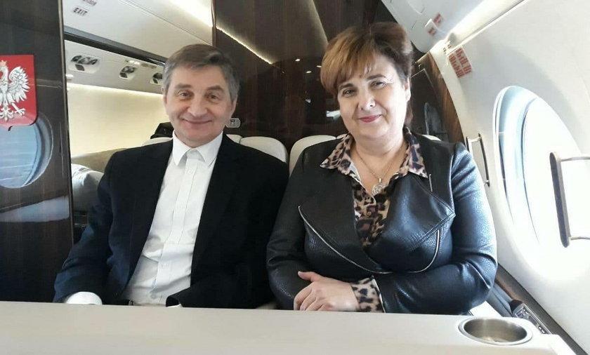 Marek Kuchciński i Krystyna Wróblewska
