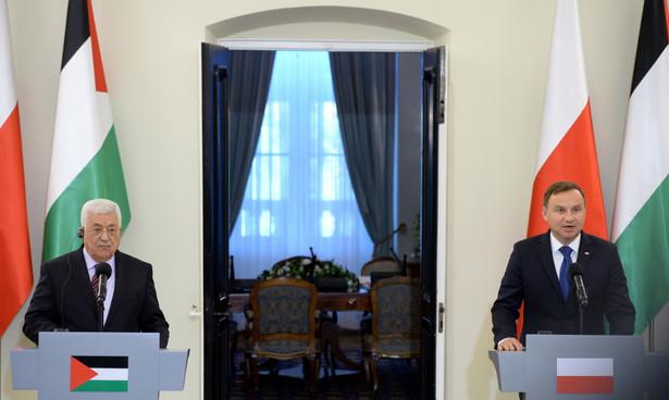Prezydent RP Andrzej Duda i prezydent Autonomii Palestyńskiej Mahmoud Abbas