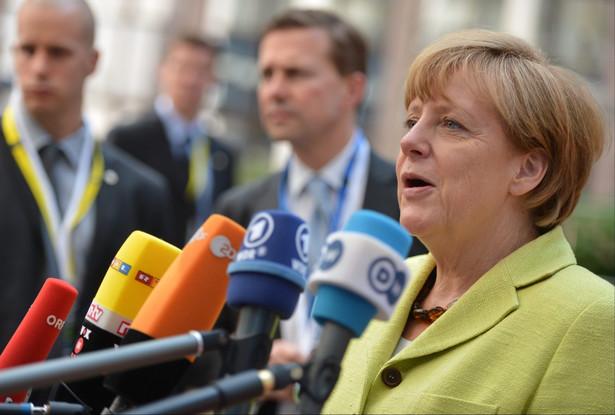 Konferencja Angeli Merkel. Fot. EPA/STEPHANIE LECOCQ D