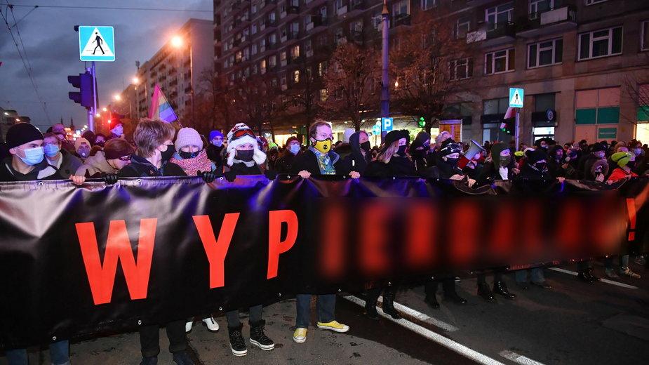 Sobotni Strajk Kobiet w Warszawie