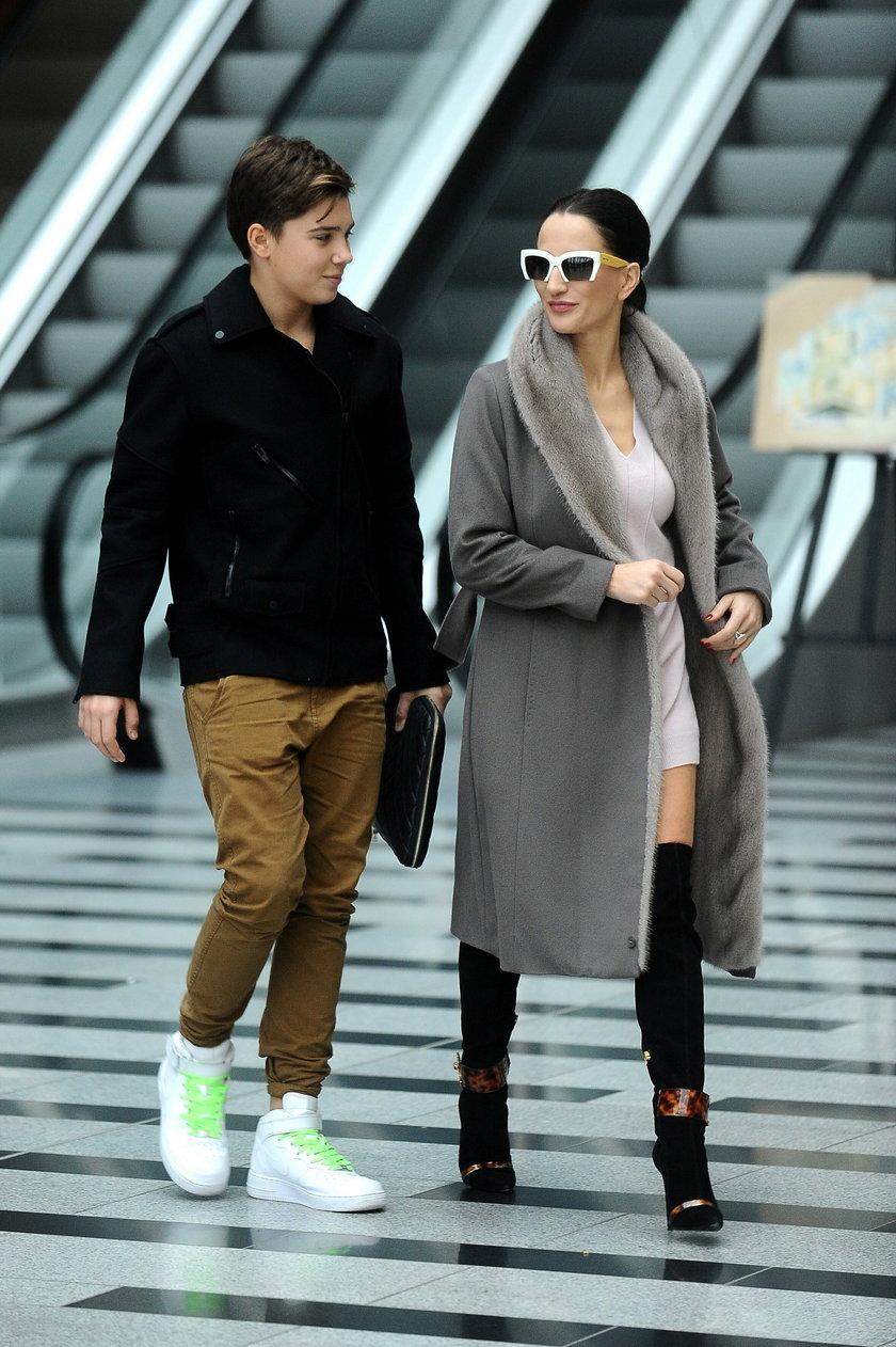 Justyna Steczkowska z synem