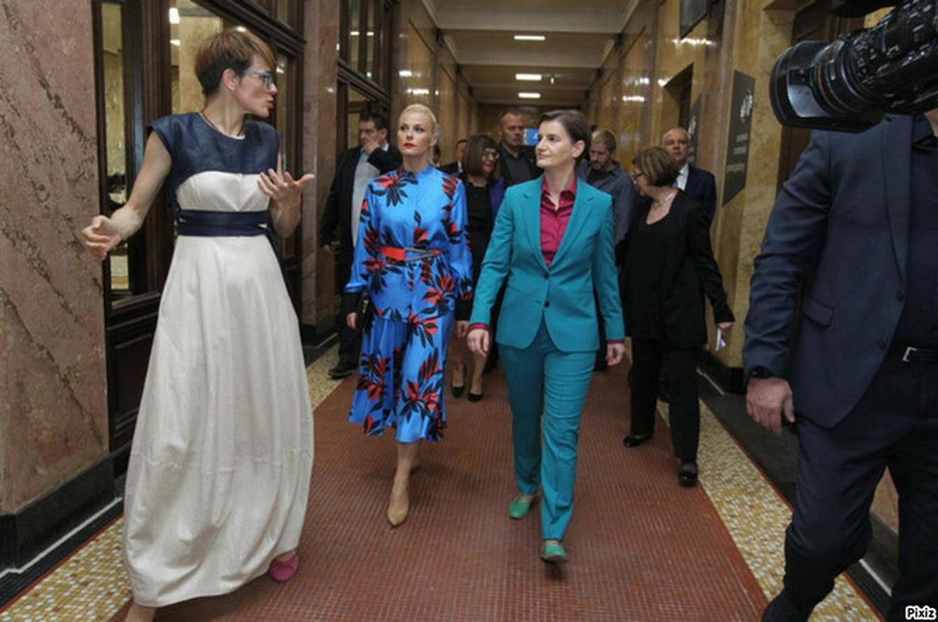 Ana i Milica na svečanom otvaranju Narodnog muzeja
