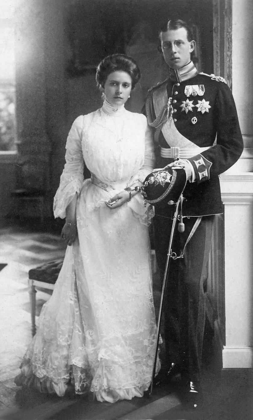 Alicja Battenberg i książę Andrzej