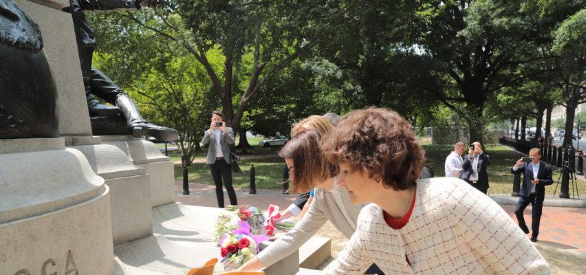 Cichanouska złożyła kwiaty pod pomnikiem Kościuszki w Waszyngtonie
