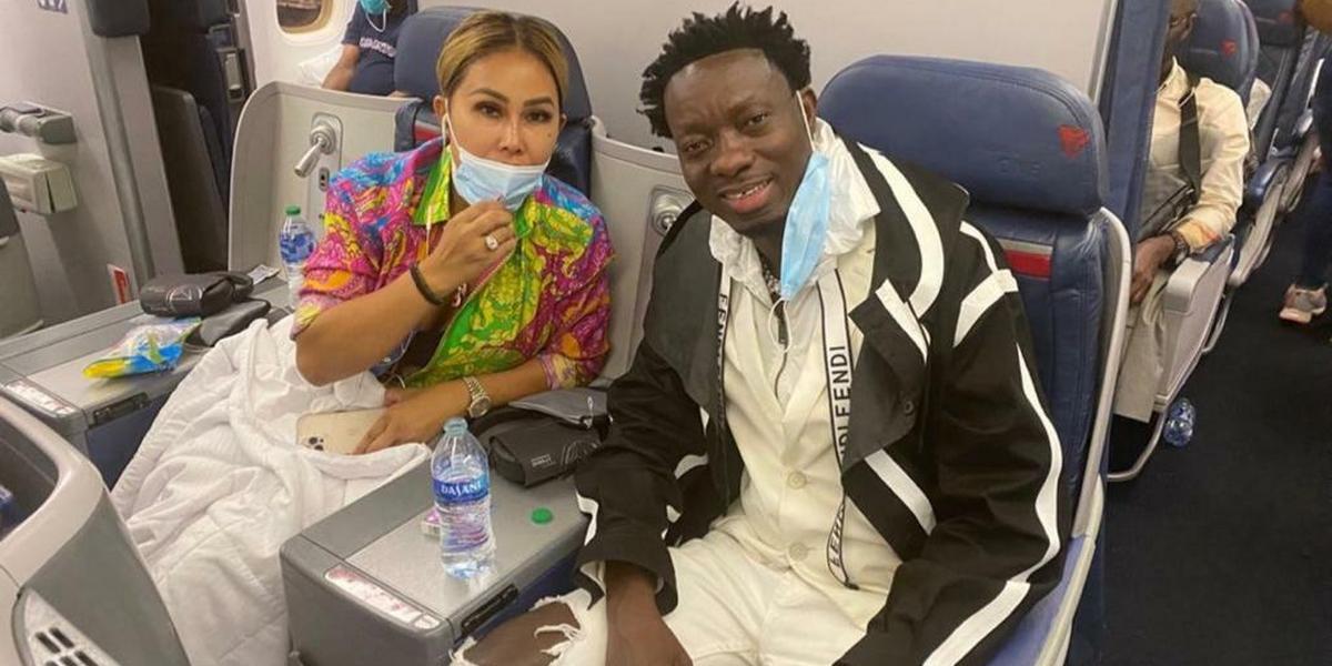 Michael Blackson brings fiancée to Ghana few hours after Newy York proposal (VIDEO)