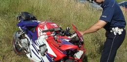 Motocyklista zabił się pędząc 160 km/godz.