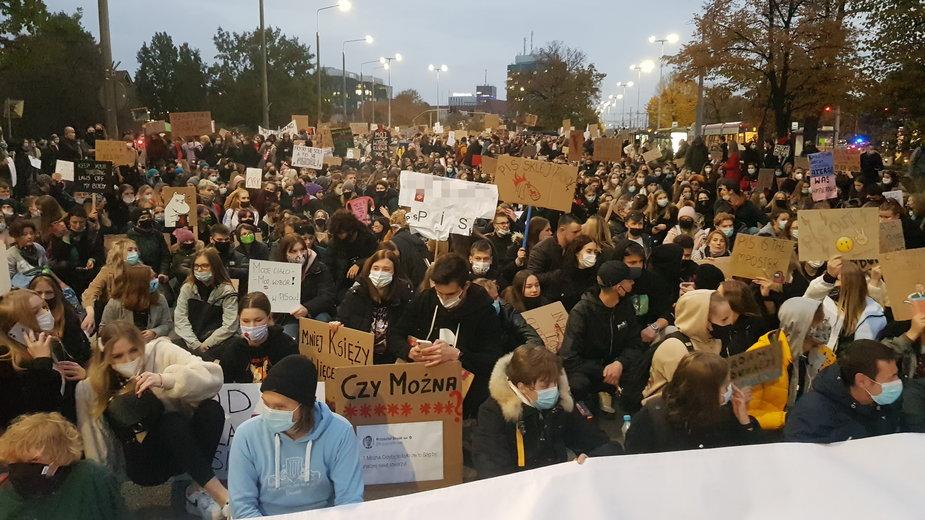 Protest młodzieży w Gdańsku