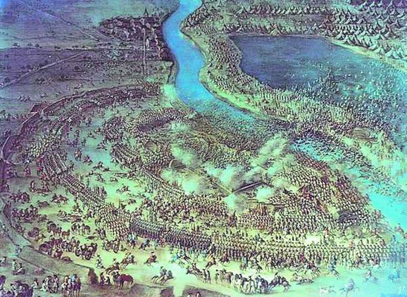 Umetnički prikaz bitke kod Sente
