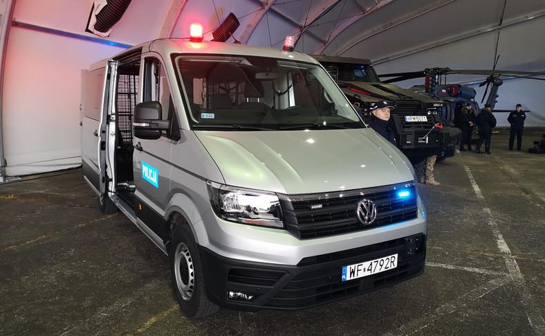 Policyjny Volkswagen Crafter
