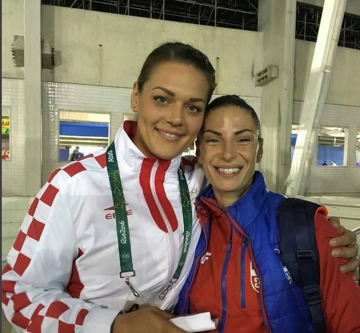 Ivana Španović i Sandra Perković