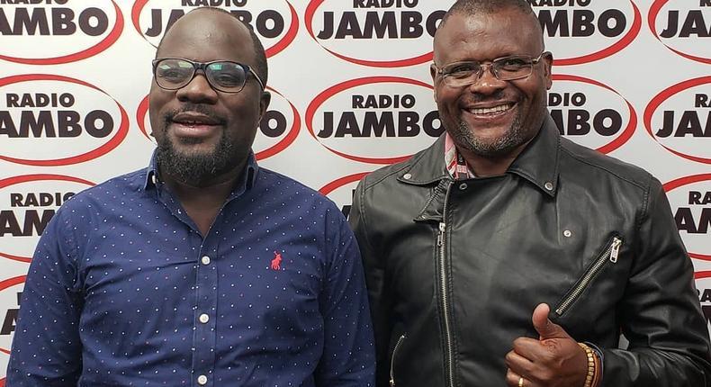 Radio Jambo presenter Gidi and Ghost