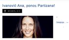 ZAHVALNOST NJENOG KLUBA Ana, ti si ponos Partizana, hvala ti u ime miliona navijača