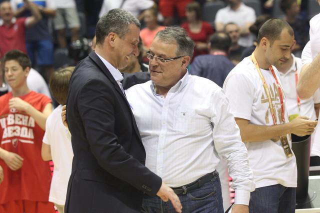 Trener Dejan Radonjić i predsednik KK Crvena zvezda Nebojša Čović