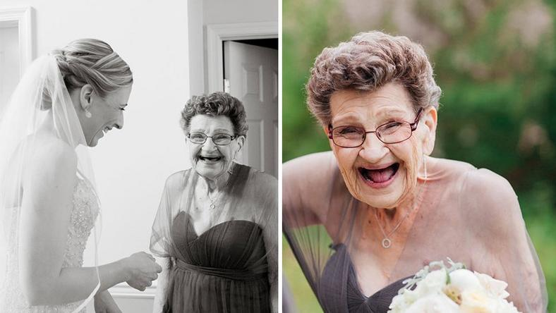 Bride invites her 89-yr-old grandma to be her bridesmaid