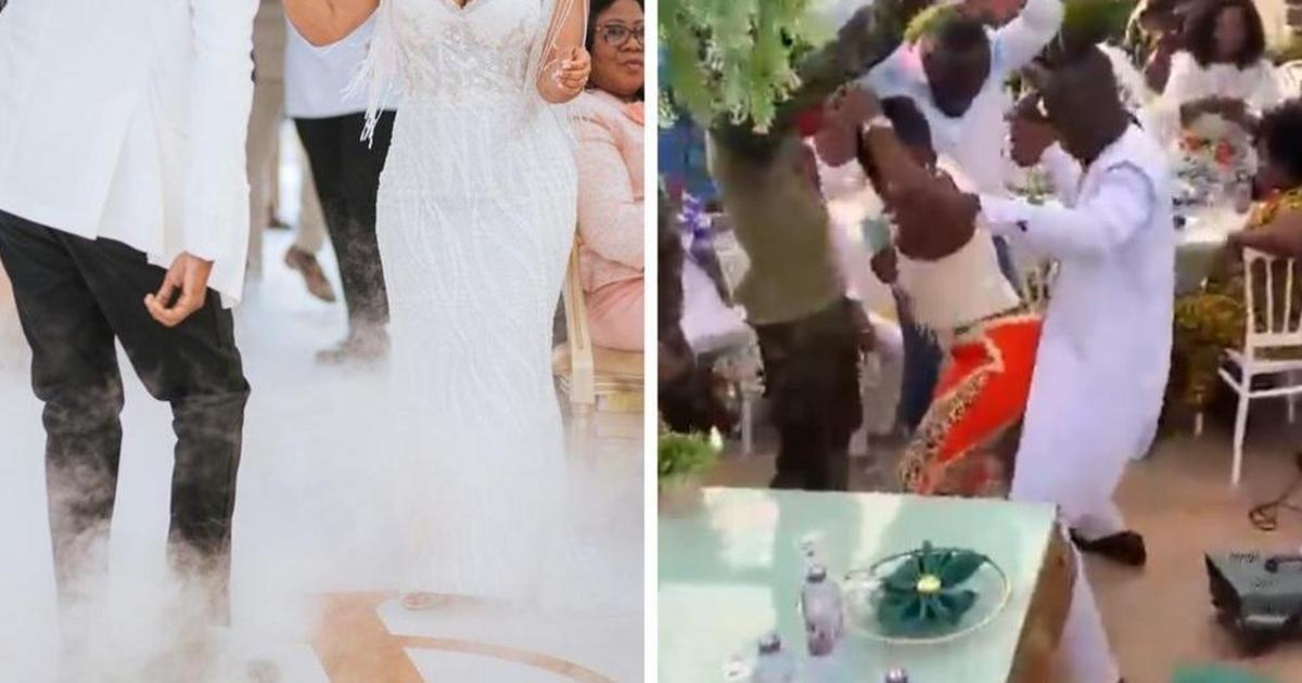 Groom goes viral for grinding wedding guest in front of bride