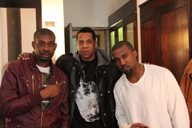Don Jazzy with Jay Z and Kanye West in 2011[Instagram/DonJazzy]