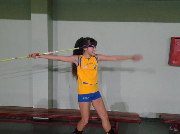 Adriana Vilagoš na treningu