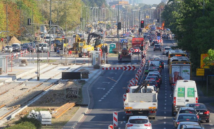 Przebudowa Wołoskiej, zamknięte skrzyżowanie z Domaniewską