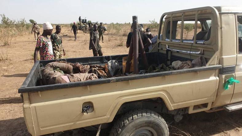 Military airstrike hits Boko Haram camp, scores of terrorists killed. [Twitter/@HQNigerianArmy]