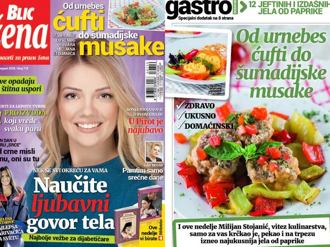 """U novoj """"Blic ženi"""" potražite recepte kuvara Milijana Stojanića za urnebes ćufte i još 11 jeftinih i izdašnih jela od paprika"""