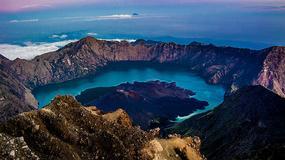 Gunung Rinjani onieśmiela swoją wielkością