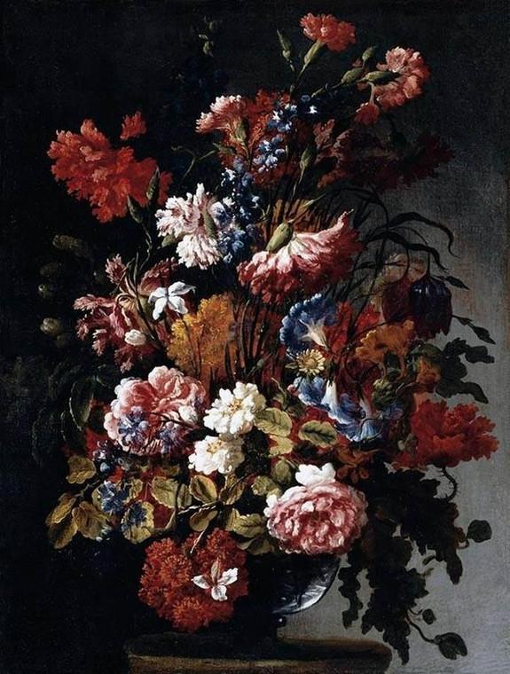 """Paolo Porpora """"Martwa natura z kwiatami"""", olej na płótnie, ok. 1660 r."""