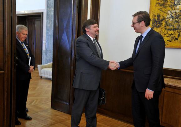 Metju Palmer i Aleksandar Vučić