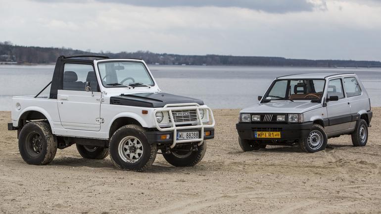 Fiat Panda 4x4 kontra Suzuki SJ 413 - japoński wojownik i Kung Fu Panda