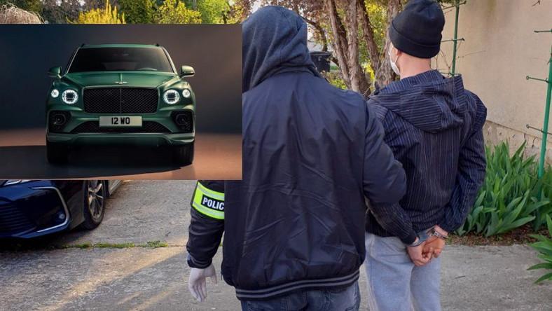 Bentley Bentayga, którego straciła Joanna Liszowska, po kradzieży został rozebrany na części. Złodziej samochodów w rękach policji