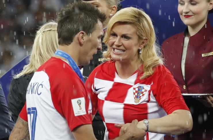 Kolinda Grabar Kitarović i Mario Mandžukić
