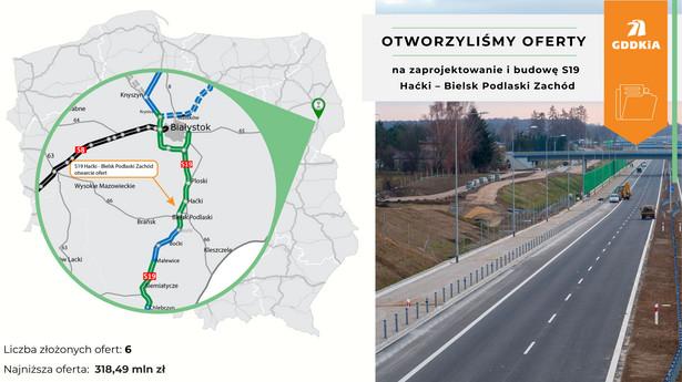 Odcinek S19, trasa Via Carpatia. Źródło: GDDKiA
