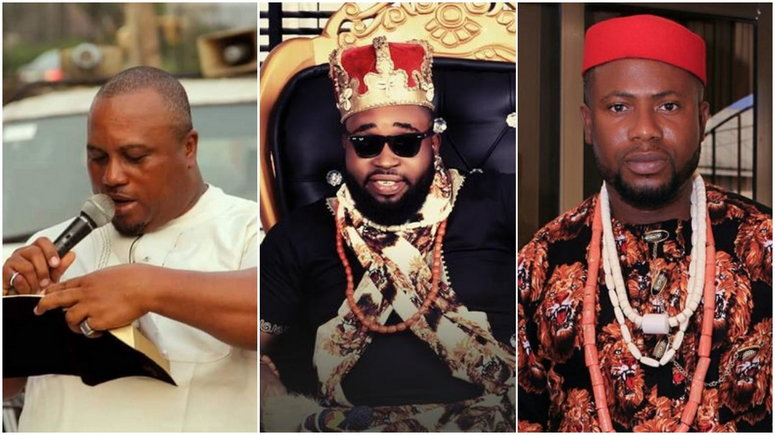 Duke 'Lin Chung' Oliver, Prince Dammy Eke and Henry Okoro are three of Nollywood stars that have passed away in the last five months. [Facebook]