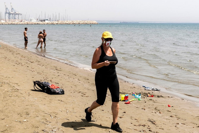 Plaža na Kipru pre nekoliko dana