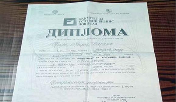 Jedna od slabo poznatih diploma Fakulteta za uslužni biznis